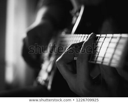 geïsoleerd · afbeelding · gitaar · toetsenbord · piano · rock - stockfoto © zzve