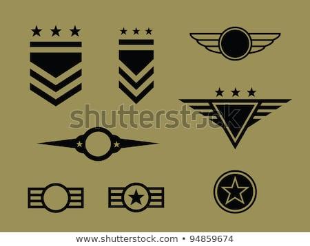 americano · ejército · sargento · insignia · clasificar · placa - foto stock © speedfighter