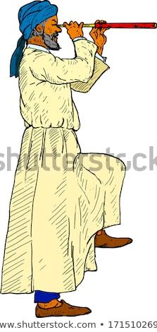 Człowiek turban sexy 30 lat stary portret Zdjęcia stock © aladin66