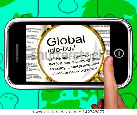 import · smartphone · międzynarodowych · światowy · commerce - zdjęcia stock © stuartmiles