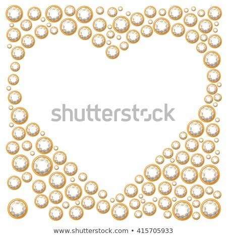 Coração lata usado casamento amor vidro Foto stock © alekleks