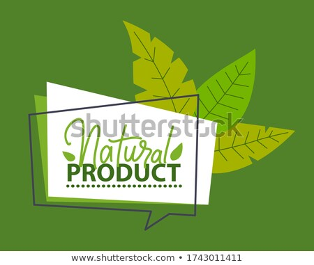 Ambiental pegatinas verde tierra hojas amarillo Foto stock © Allegro