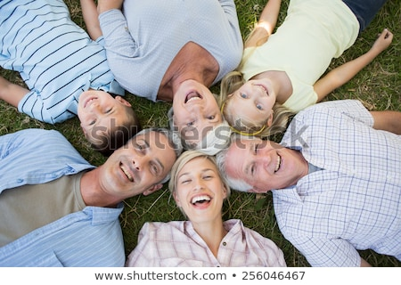 Stock photo: Multi-generation family lying in circle