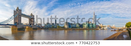 city hall tower bridge and the river thames in london stock photo © chrisdorney