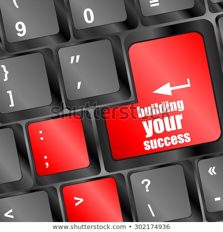 building your success button on computer keyboard key Stock photo © fotoscool