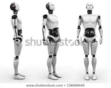立って ロボット 暗い フロント 表示 背景 ストックフォト © Kirill_M