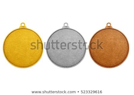 Eski madalya yalıtılmış beyaz judo spor Stok fotoğraf © michaklootwijk