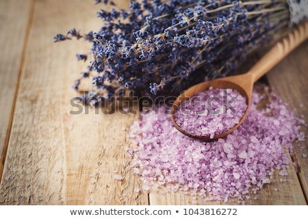 lavender massage oil and bath salt aroma therapy wellness Stock photo © juniart
