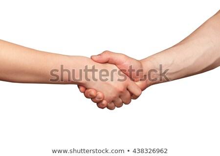 Iki eller adam kadın yalıtılmış beyaz Stok fotoğraf © oly5