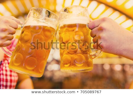стекла · пива · мелкий · области · свет · пить - Сток-фото © arenacreative