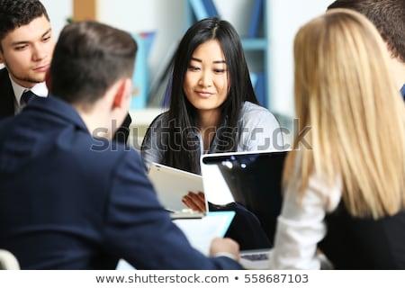 szakértő · tanács · üzlet · zöld · nyíl · jelmondat - stock fotó © kzenon