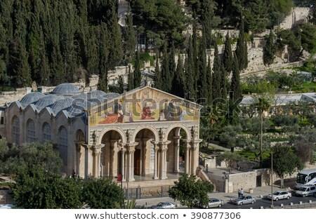 Kilise tüm Kudüs İsrail mimari zeytin Stok fotoğraf © AndreyKr