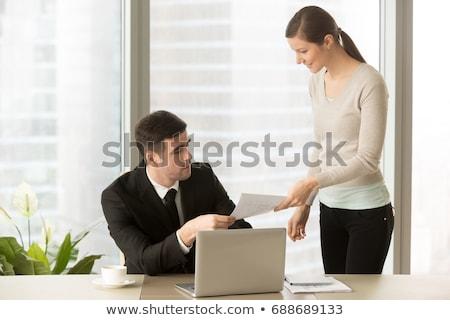 gerente · equilibrio · fuera · femenino · masculina · trabajador - foto stock © ichiosea