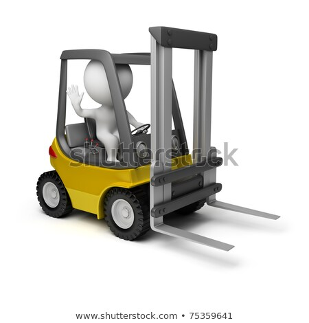 3d small people   delivery goods stock photo © anatolym