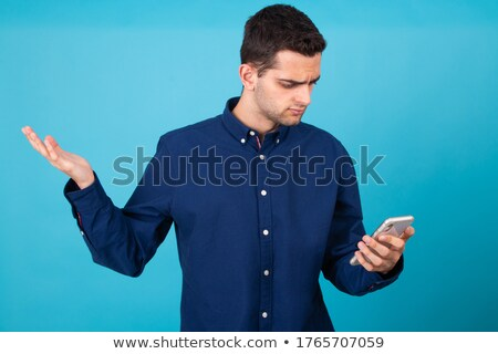 incomprehension on the phone Stock photo © runzelkorn