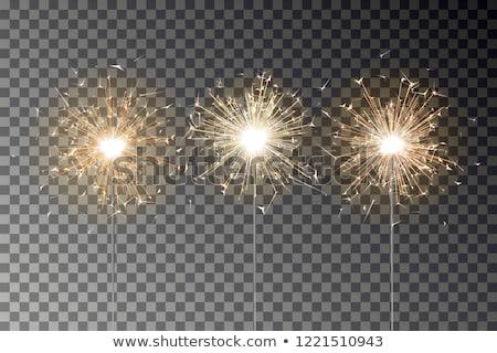 Bengalski ognia streszczenie świetle płomień christmas Zdjęcia stock © almir1968