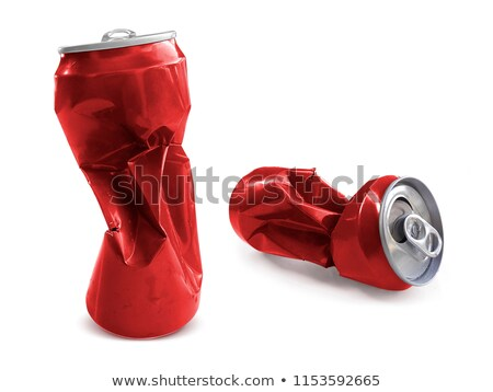 Red crushed cans Stock photo © stokkete