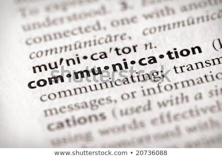 Comunicazione dizionario definizione parola soft focus Foto d'archivio © chris2766