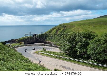 landscape at berriedale highlands scotland stock photo © phbcz