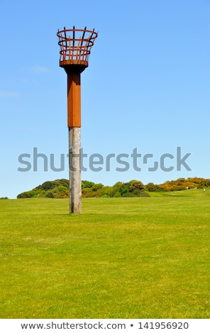 Beacon on East Hill cliff in Hastings, England Stock photo © sarahdoow