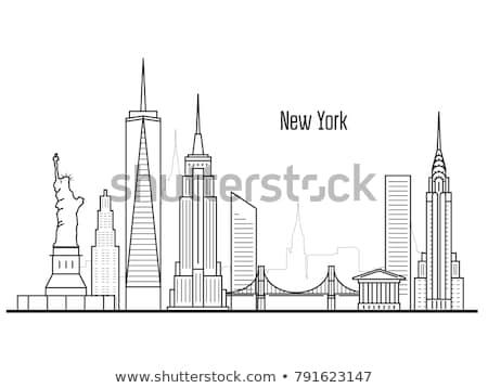 Brooklyn Bridge Manhatten New York Stockfoto © GoMixer