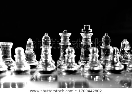 glass chess Stock photo © Hochwander