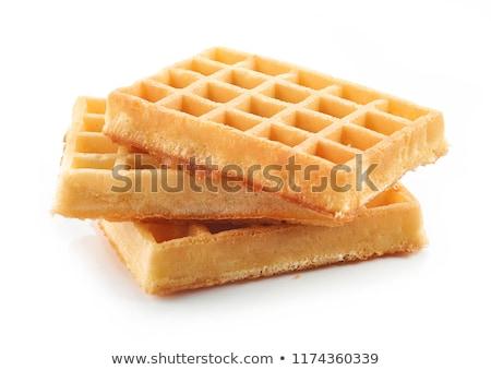 waffle · fehér · csokoládé · kenyér · kövér · eszik - stock fotó © dekzer007