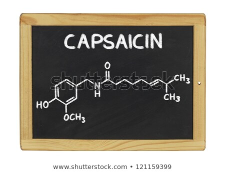Stock photo: Blackboard with the chemical formula of Capsaicin
