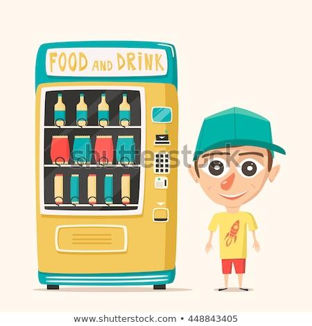Happiness on Display of Vending Machine. Stock photo © tashatuvango