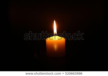 сжигание свечу расплывчатый старые выветрившийся серый Сток-фото © olandsfokus