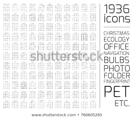 Icon Set – Folders (Vector) Stock photo © Mr_Vector