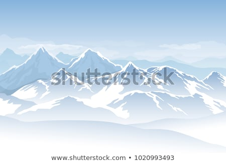 Stock photo: Snowy Mountain Range