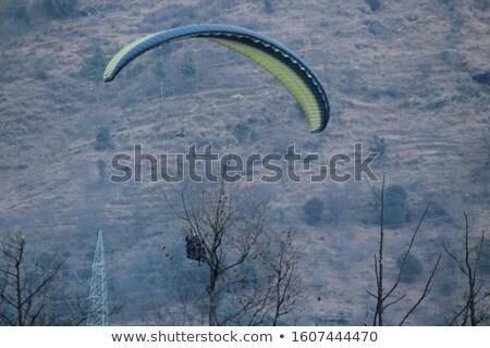 Silhouette montagna ventoso cielo caucaso Georgia Foto d'archivio © BSANI