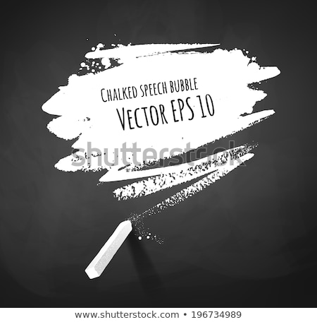 blank blackboard with white chalk dust and smudges stock photo © pixelsaway