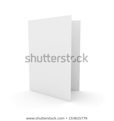 Lege kaart geïsoleerd business papier kaart document Stockfoto © asturianu