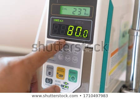 infusion pump, saline solution equipment Stock photo © tungphoto