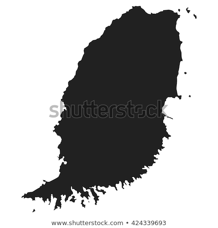 Térkép Grenada különböző szimbólumok fehér zászló Stock fotó © mayboro1964