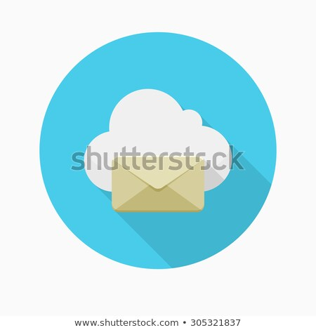 Webpage app icon with long shadow Stock photo © Anna_leni