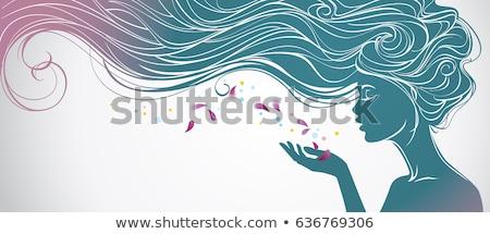 sexy · vector · vrouw · silhouet · hand · profiel - stockfoto © urchenkojulia