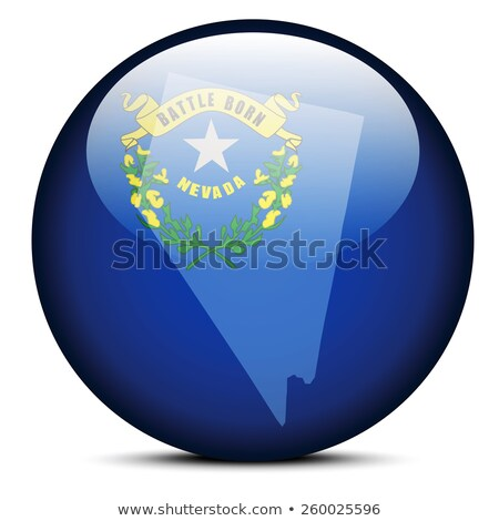 Harita bayrak düğme ABD Nevada vektör Stok fotoğraf © Istanbul2009
