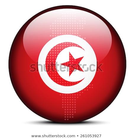kaart · Tunesië · vlag · maan · achtergrond · teken - stockfoto © istanbul2009