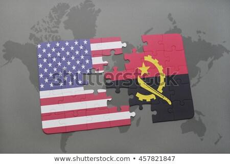флаг · Ангола · изолированный · белый · бумаги · дизайна - Сток-фото © istanbul2009