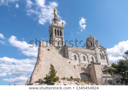 View of Notre-Dame de la Garde basilica in Marseille Stock photo © lightpoet
