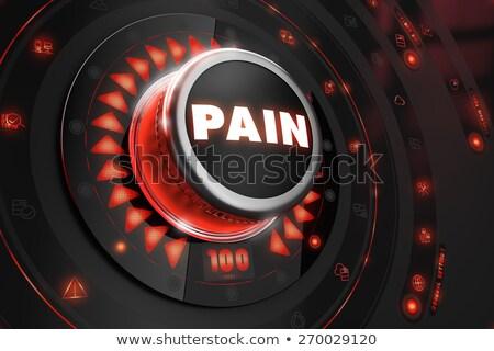 Pijn zwarte troosten controle Rood achtergrondverlichting Stockfoto © tashatuvango