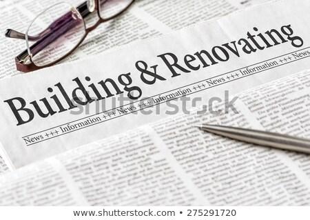 Journal titre bâtiment affaires maison nouvelles Photo stock © Zerbor