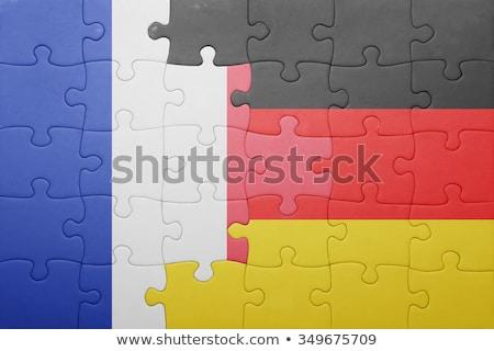 Francia Alemania banderas rompecabezas vector imagen Foto stock © Istanbul2009