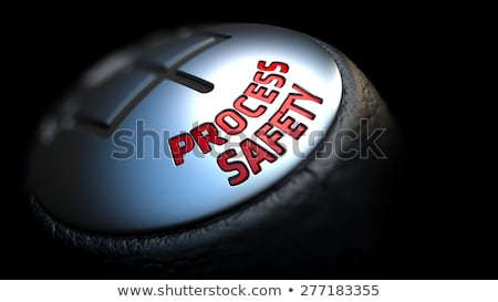 Process Safety. Gear Lever. Control Concept. Stock photo © tashatuvango