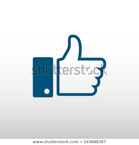 Facebook like thumbs up symbol icon stock photo © ikopylov