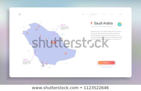 地図 · サウジアラビア · 政治的 · いくつかの · 抽象的な · 世界 - ストックフォト © mayboro