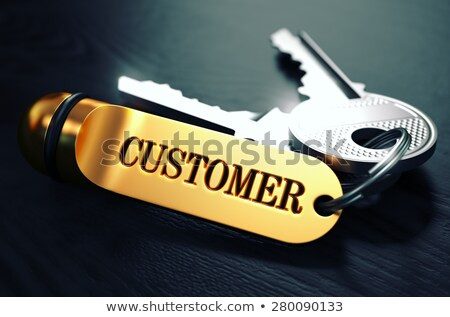 customers concept keys with golden keyring stock photo © tashatuvango